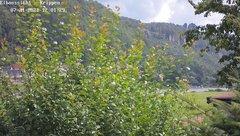 view from Webcam in Bad Schandau Sächsische Schweiz on 2021-07-21