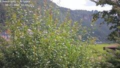 view from Webcam in Bad Schandau Sächsische Schweiz on 2021-07-23