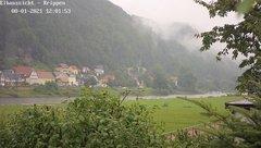view from Webcam in Bad Schandau Sächsische Schweiz on 2021-08-01