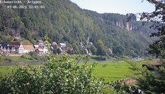 view from Webcam in Bad Schandau Sächsische Schweiz on 2021-09-06