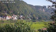 view from Webcam in Bad Schandau Sächsische Schweiz on 2021-09-14