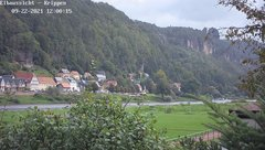 view from Webcam in Bad Schandau Sächsische Schweiz on 2021-09-22