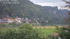 view from Webcam in Bad Schandau Sächsische Schweiz on 2021-10-04