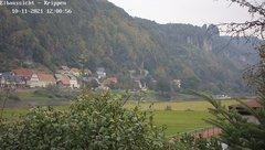 view from Webcam in Bad Schandau Sächsische Schweiz on 2021-10-11