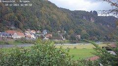 view from Webcam in Bad Schandau Sächsische Schweiz on 2021-10-12