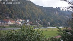 view from Webcam in Bad Schandau Sächsische Schweiz on 2021-10-13