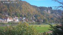 view from Webcam in Bad Schandau Sächsische Schweiz on 2021-10-20