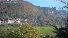 view from Webcam in Bad Schandau Sächsische Schweiz on 2021-10-24