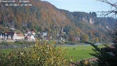 view from Webcam in Bad Schandau Sächsische Schweiz on 2021-10-25