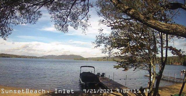 time-lapse frame, Sunset Beach webcam