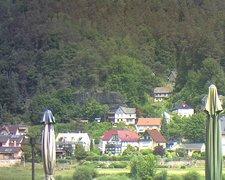view from Webcam in Bad Schandau, Krippen & Postelwitz on 2021-06-16