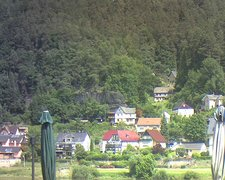 view from Webcam in Bad Schandau, Krippen & Postelwitz on 2021-07-13