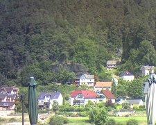 view from Webcam in Bad Schandau, Krippen & Postelwitz on 2021-07-24