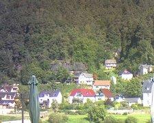 view from Webcam in Bad Schandau, Krippen & Postelwitz on 2021-09-14