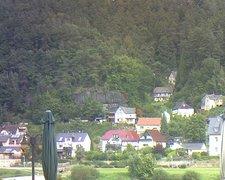 view from Webcam in Bad Schandau, Krippen & Postelwitz on 2021-09-15