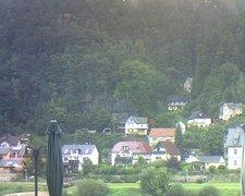 view from Webcam in Bad Schandau, Krippen & Postelwitz on 2021-09-16