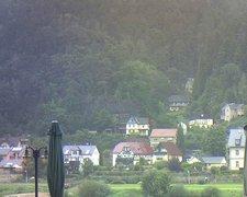 view from Webcam in Bad Schandau, Krippen & Postelwitz on 2021-09-17