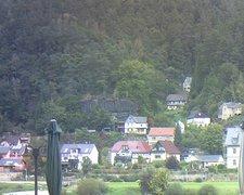 view from Webcam in Bad Schandau, Krippen & Postelwitz on 2021-10-04