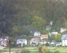 view from Webcam in Bad Schandau, Krippen & Postelwitz on 2021-10-16