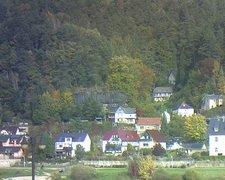 view from Webcam in Bad Schandau, Krippen & Postelwitz on 2021-10-19