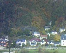 view from Webcam in Bad Schandau, Krippen & Postelwitz on 2021-10-27