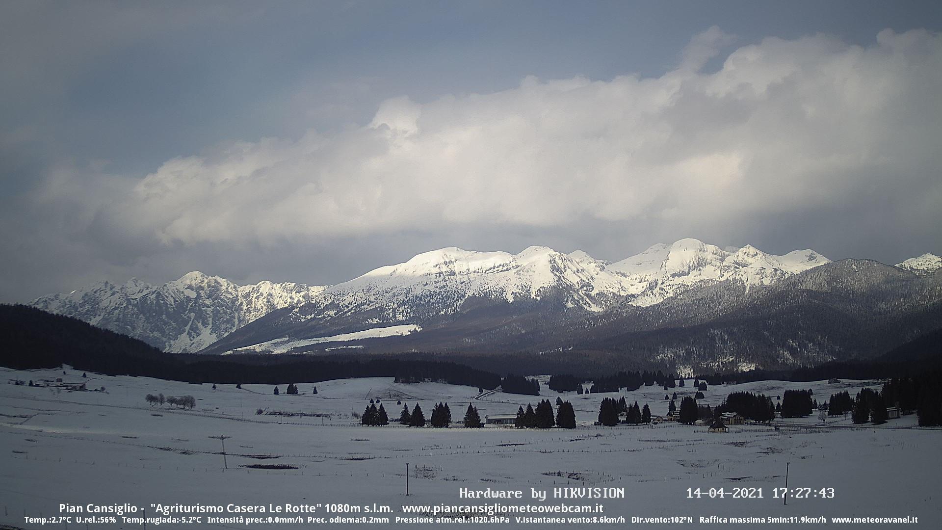 time-lapse frame, Instabilità neve 14.04.2021 webcam