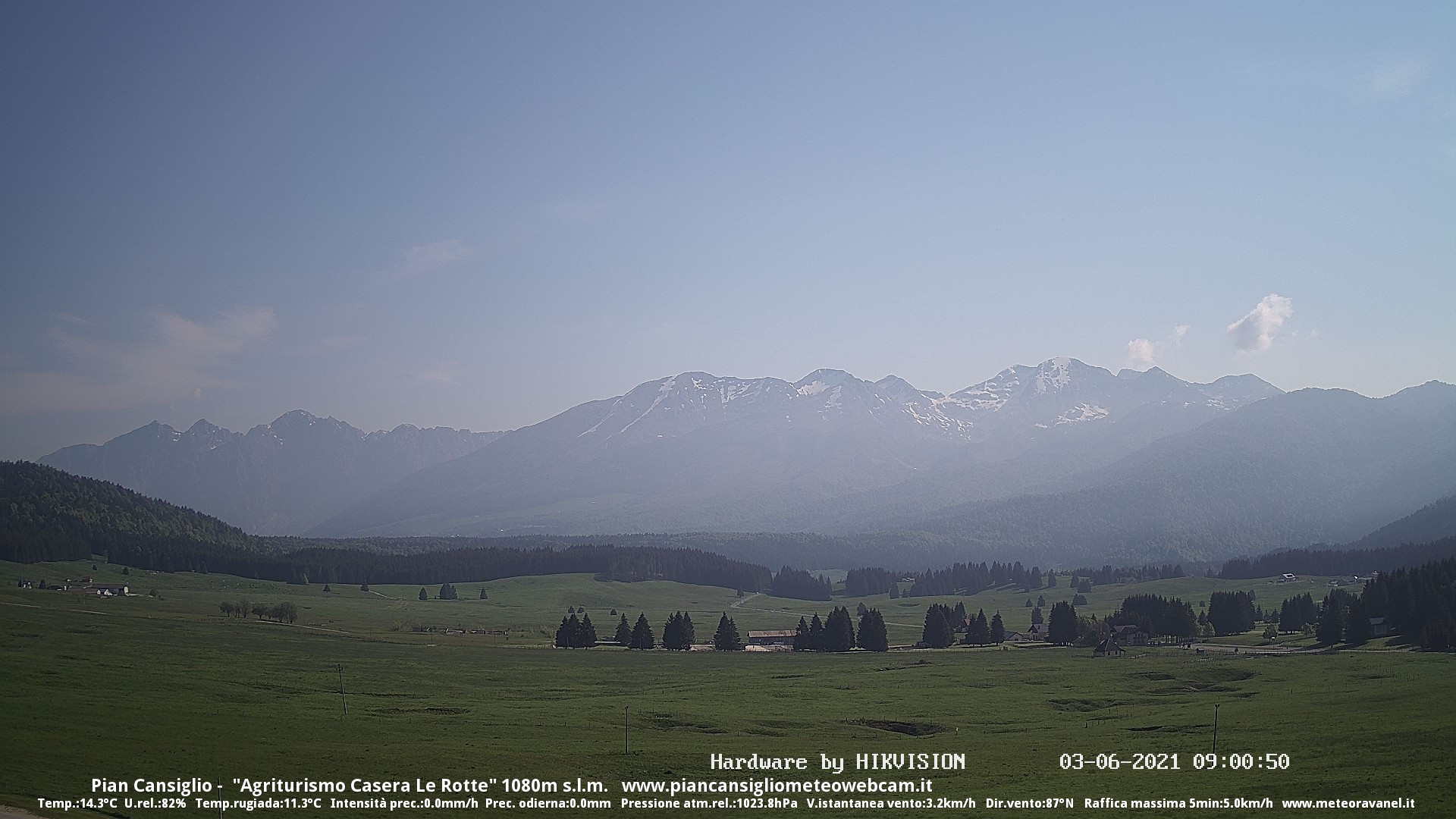 time-lapse frame, Pian Cansiglio - Casera Le Rotte webcam
