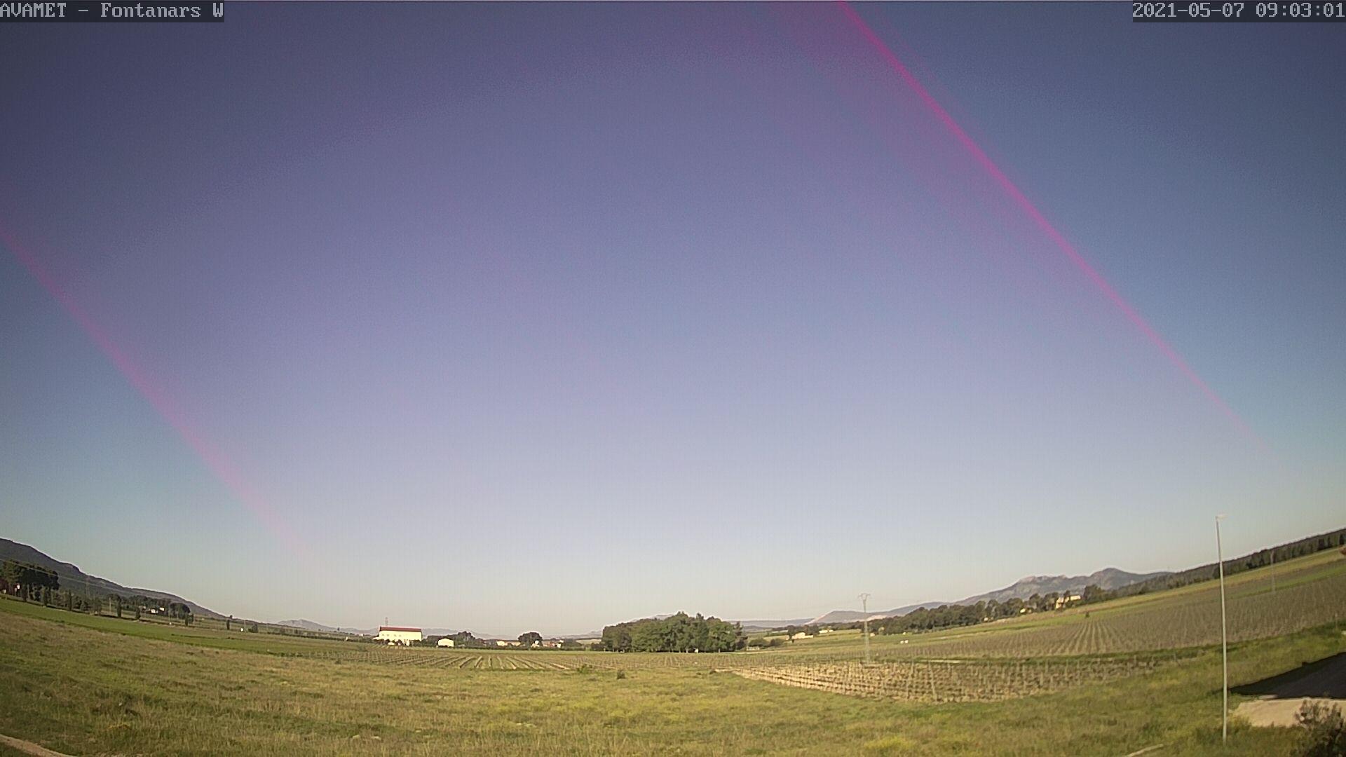 time-lapse frame, Fontanars AVAMET webcam